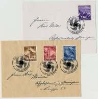 Deutsches Reich Nr. 806-809 Ostmark Auf 2 Belegen Mit SST  MÜNCHEN 12.10.41 (40665) - Deutschland