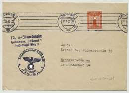 Deutsches Reich Dienstbrief 12. SS-Standarte, HANNOVER 27.3.42 (42057) - Deutschland