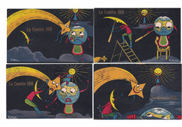 CARTOLINA POSTALE PUBBLICITARIA LA COMETE 1910 Serie  Completa 6 CARTOLINE  Illustratore K. HESSE - Publicité