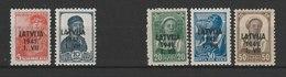 MiNr. 1,2, 4, 5, 6  Deutschland Besetzungsausgaben II. Weltkrieg Lettland - Besetzungen 1938-45