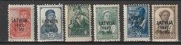 Lettland / Freimarken: Marken Aus Der Sowjetunion / MiNr: 1-6 - Besetzungen 1938-45