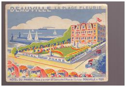 14 Deauville La Plage Fleurie Hotel Du Phare Restaurant Face à La Mer Boulevard Cornuché 2 Rue Eglise - Deauville