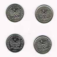 POLEN  4 X 50 GROSZY  1990/91/92/95 - Pologne