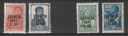 Lettland / Freimarken: Marken Aus Der Sowjetunion / MiNr: 1, 2, 4, 5 - Besetzungen 1938-45