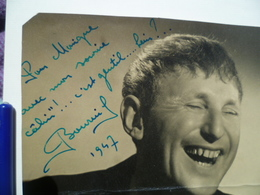 Autographe BOURVIL - Autographes