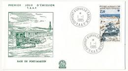 TAAF - Enveloppe FDC - 2,20 Base De Fort Martin -  Dumont D'Urville T. Adélie - 1- 1-1985 - FDC