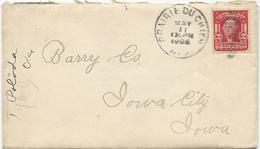 LETTRE USA 1906 AVEC CACHET PRAIRIE DU CHIEN - Hunde