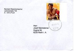 Brief Von 5010 Salzburg Mit 125 Cent Muhammed Ali 2018 - 1945-.... 2ème République