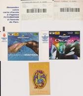 Lot 6 Tickets De Parcs Attractions Dysneyland 2009, Futuroscope 97 Et 2001, Marineland Antibes 2003 Dont Orcadia - Tickets - Vouchers