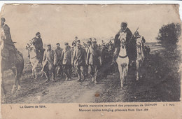 Cpa Ak Pk - La Guerre De 1914 - Spahis Marocains Ramenant Des Prisonniers De Dixmude, Très Animé (vendu Dans L'état) - Guerre 1914-18