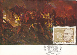 D33814 CARTE MAXIMUM CARD 1970 HUNGARY - DETAIL PAINTING ZRINYI'S SALLY BY SZEKELY BERTALAN CP ORIGINAL - Otros
