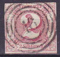 T.-P. Oblitéré - Freimarke 2 Silb. Grosch. Chiffre 2 Dans Un Carré - N° 10 (Yvert) - États Du Nord - Tour Et Taxis 1859 - Thurn Und Taxis