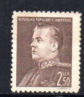 181 - 490 - ALBANIA 1949 ,   Yvert N. 407  ***  MNH. Hodja - Albania