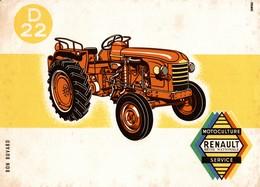 BUVARD   D 22  MOTOCULTURE RENAULT - Agriculture
