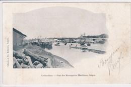 VIET NAM Cochinchine ,Saigon , Pont Des Messageries Maritimes  ,ecriture Chinoise Au Dos - Viêt-Nam