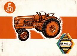 BUVARD  E 30   MOTOCULTURE RENAULT - Agriculture