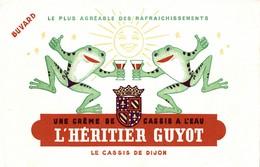 BUVARD  UNE CREME DE CASSIS A L EAU L HERITIER GUYOT - Liquor & Beer