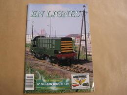 EN LIGNES Revue Ferroviaire N° 50 SNCB NMBS Chemins Fer Train Tram Livrée Verte Diesel 55 Réseau Industriel CFD DLC - Railway & Tramway