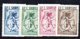 206 - 490 - ALBANIA 1957 ,   Yvert N. 482/485  ***. Indipendenza - Albania