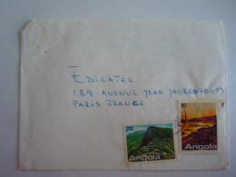 Lettre Brief Angola Pour Paris 1987 Timbres Tourisme Yv 744 745 - Angola