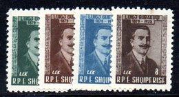 209 - 490 - ALBANIA 1958 ,   Yvert N. 489/492 *** - Albania