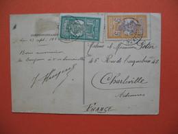 CPA  Martinique 1924 Pour La France Ardennnes Ruisnes De La Ville  Après La Catastrophe Du 8 Mai 1902 - Autres