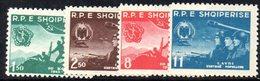 215 - 490 - ALBANIA 1958 ,   Yvert N. 497/500  ***  Esercito - Albania