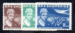 216 - 490 - ALBANIA 1959 ,   Yvert N. 501/503  *** - Albania
