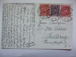 GERMANY - Christmas Postcard  From Inflation Period Stralsund Postmarks - Deutschland