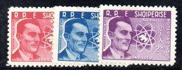 219 - 490 - ALBANIA 1959 ,   Yvert N. 504/506  *** - Albania