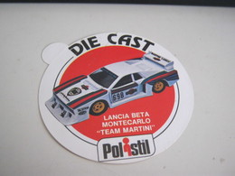 ETICHETTA  LANCIA BETA POLISTIL - Car Racing - F1