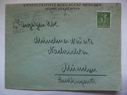GERMANY - 1922 Inflation Cover - `Kunstlerspiele Boccaccio Munchen Hotel Stadtwien` - Briefe U. Dokumente