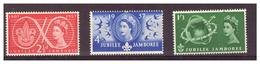 GRAN BRETAGNA - 1957- 100°  NASCITA LORD BADEN POWELL E 50° DELLO SCOUTISMO. SERIE COMPLETA - MH* - 1952-.... (Elisabetta II)