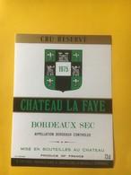 8244 - Château La Faye 1975 Bordeaux Sec - Bordeaux