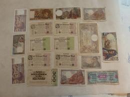 Lot De 17 Billets Français Et étrangers - Coins & Banknotes