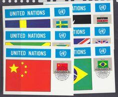 UNO NY 1983 Flags 16 Maxicards (38804) - New York - Hoofdkwartier Van De VN
