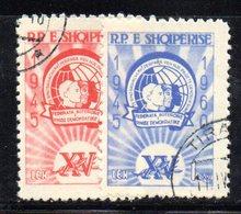 239 - 490 - ALBANIA 1960 ,   Yvert N. 537/538   Usata - Albania