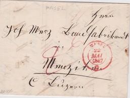 SUISSE 1847 LETTRE DE BALE - Suisse