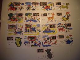 19 - LA CELLE - Rare - 17 Cartes Différentes...illustration Par Jean De Pressac - Preissac