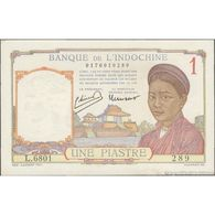 TWN - FRENCH INDO-CHINA 54c - 1 Piastre 1932-49 L.6801 289 - Signatures: Minost & Laurent XF/AU - Indochine