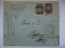 GERMANY -  August 1923 Inflation Cover  - Remscheid To Bayonne Switzerland -  60000 DM Rate - Multi-stamped Both Sides - Alemania