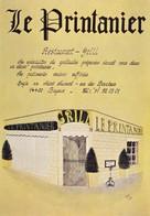 BAYEUX. - Restaurant  LE PRINTANIER. Carte RARE - Restaurants