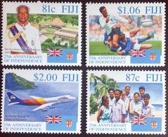 Fiji 1995 25th Anniversary Of Independence Aircraft Aviation MNH - Fiji (1970-...)