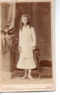 VRAIE PHOTO 1870 . Jeune Fille Russe . Odessa . - Antiche (ante 1900)
