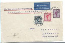 W-L077 / Erster Postflug Ex Breslau Nach Istanbul 1.5.31 - Briefe U. Dokumente