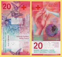 Switzerland 20 Franken P-76 2015(2017) Sign. Studer & Jordan UNC - Switzerland