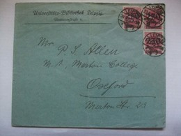GERMANY - 1923 Inflation Cover - Leipzig To Oxford England - 750000 DM Rate - Allemagne