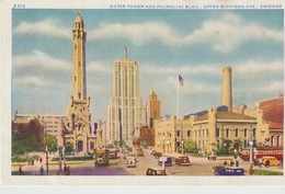 CPA - WATER TOWER AND PALMOLIVE BLOG - UPPER MICHIGAN AVE - CHICAGO - CAR - 313 - MAX RIGOT - Etats-Unis