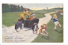 19833 - Enfants Side Car Chien Kommt Man über'n Hund Kommt Man über'n Schwanz - Humour