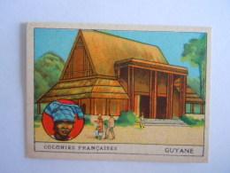 Colonies Françaises Format 7 X 5 Cm  Librairie D'éducation Nationale Paris Guyane - Chromo